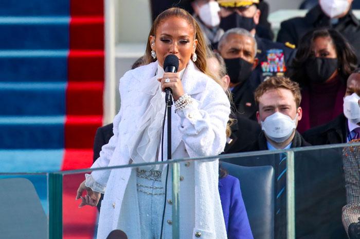 Jennifer Lopez Performs at Joe Biden Inauguration
